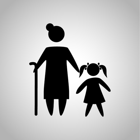 granddaughter: Grandmother with granddaughter icon