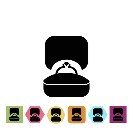 kinship: Wedding ring icon Illustration