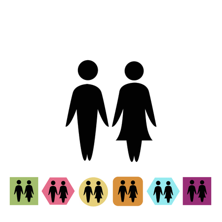 kinship: Man and woman icon Illustration