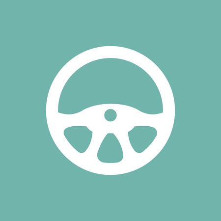 steering wheel: Car steering wheel icon