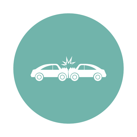 Cars crash icon