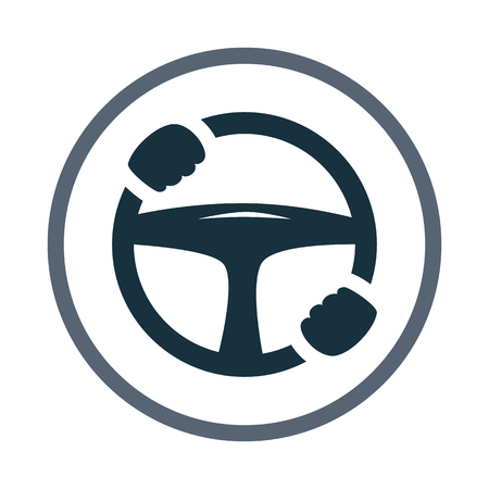 tilting: car steering wheel with hands icon