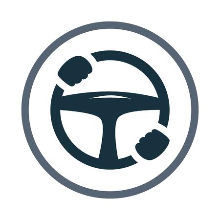 Auto-Lenkrad mit den Händen Symbol