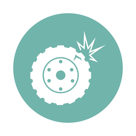 air hole: Car wheel crash icon