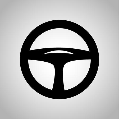 tilt: Car steering wheel icon