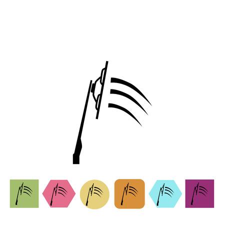 wiper: Car wiper icon Illustration