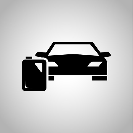 canister: Car and gas canister icon