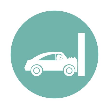 breakage: Car crash test icon