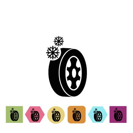 winter tires: Winter tires icon