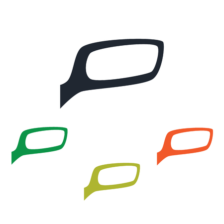 rearview: Car rearview mirror icon