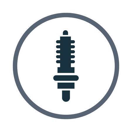 damper: Car damper icon
