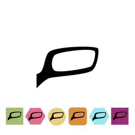 Car rearview mirror icon