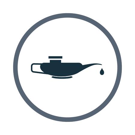 machine oil: Machine oil icon Illustration