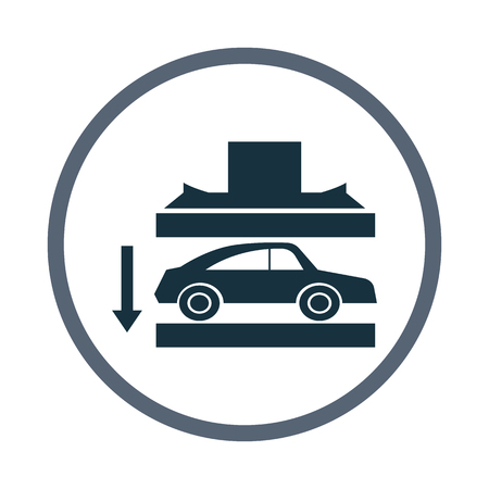 heaviness: Car crash with press icon