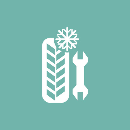 provide: Winter tire service provide icon Illustration