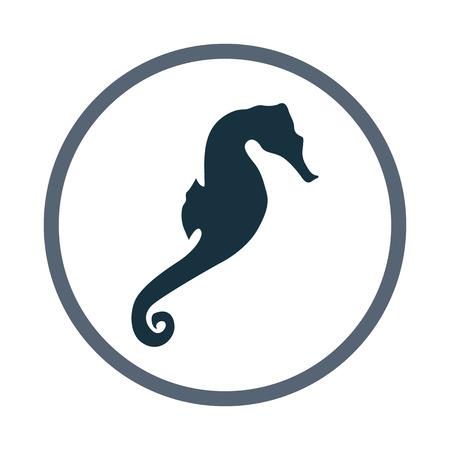 caballo de mar: icono del caballo de mar