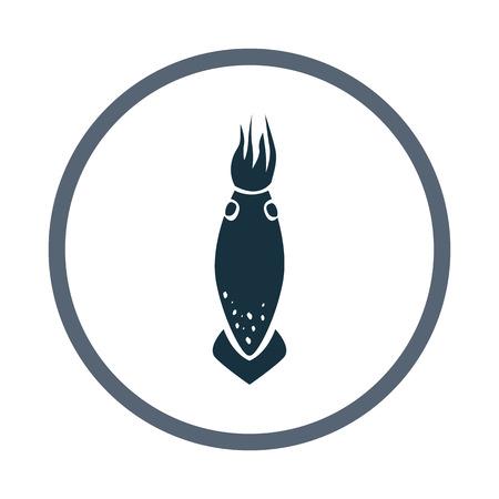 cuttlefish: Squid icon Illustration