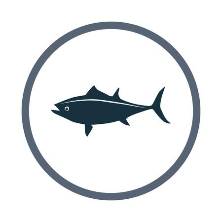 Tuna icon  イラスト・ベクター素材