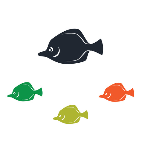 flounder: Sea fish icon Illustration