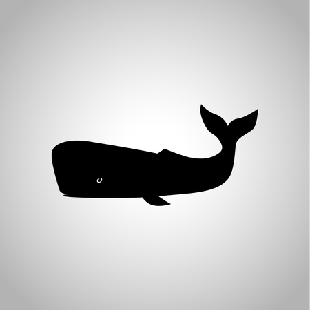 Sperm whale icon Vectores