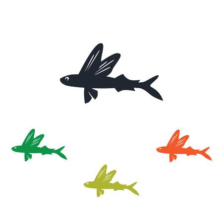 Flying fish icon