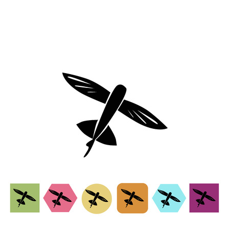 flying float: Flying fish icon