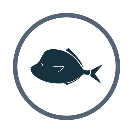 fisheries: Sea fish icon Illustration