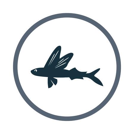 Voler icône du poisson Vecteurs