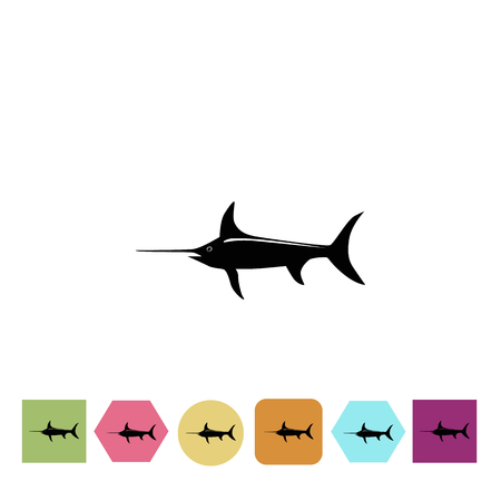 pez espada: icono de pez espada Vectores