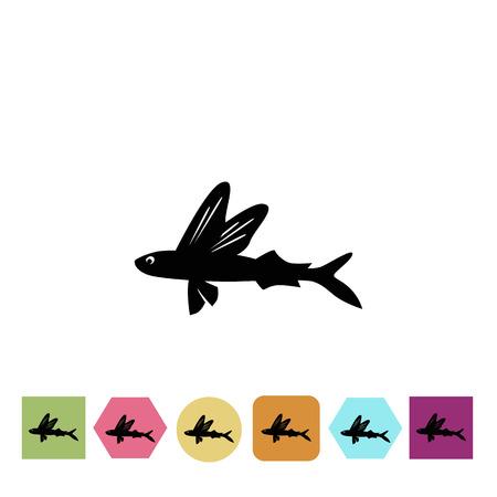 Voler icône du poisson