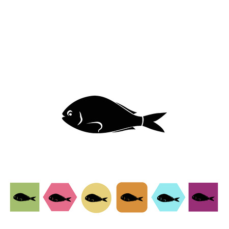 flounder: Sea fish icon Illustration