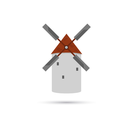 farmstead: Agriculture mill color icon Illustration