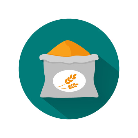 bag icon: Wheat sack color icon Illustration