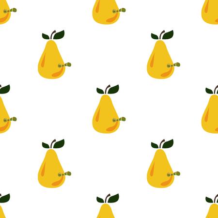 caterpillar: Pear with caterpillar color icon