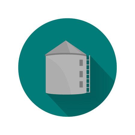 silo: Color farm silo icon