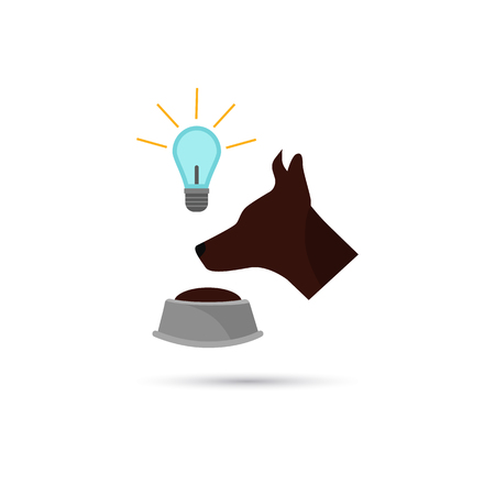 Color illustration of Pavlov dog icon 向量圖像