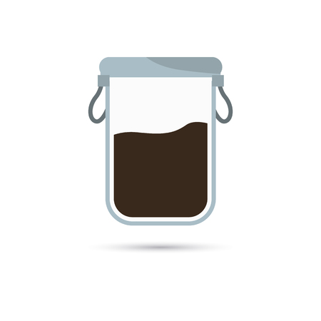 bulk: Color illustration of container for bulk products icon
