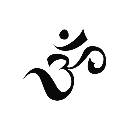 sanskrit: Pranava symbol Illustration