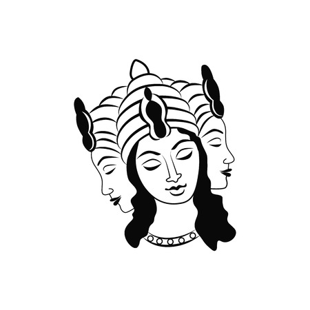 temple of heaven: Brahma god illustration