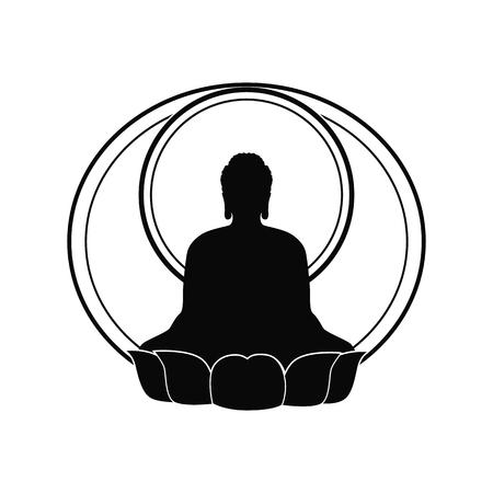 thai buddha: Buddha illustration