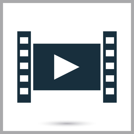 cinematograph: Film frame icon on the background