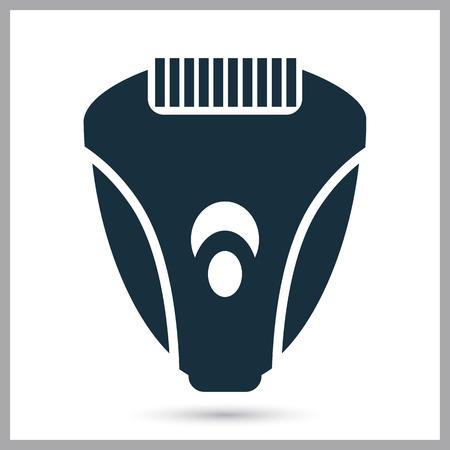 electric razor: Electric razor icon on the background