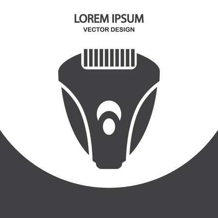 intimate: Electric razor icon on the background