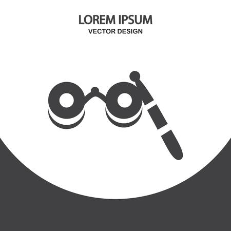 opera: Opera glasses icon on the background Illustration
