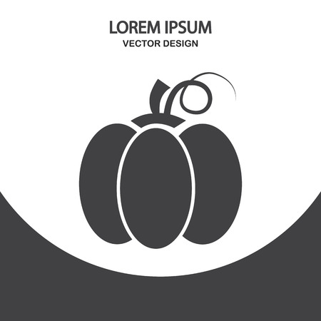 Pumpkin icon on the background