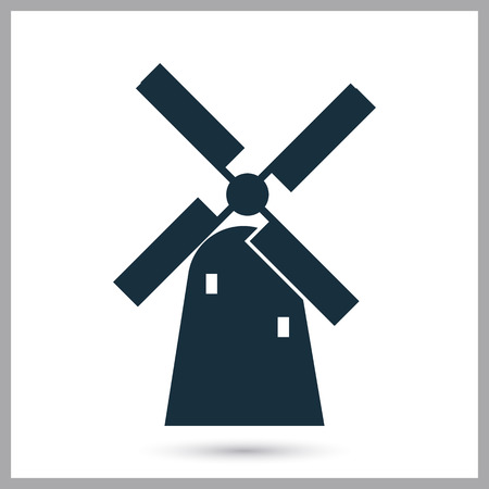 water mill: Windmill icons on the background