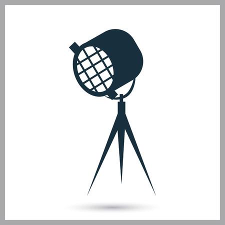 strobe light: Movie spotlight icon