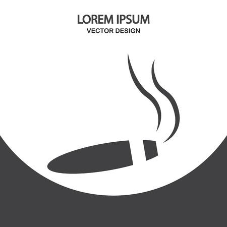 cuban cigar: Cuban cigar icon on the background