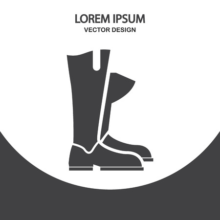 backgrouns: Horse rider boots icon on the background Illustration