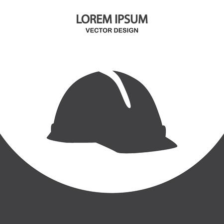 construction helmet: Construction helmet icon on the background